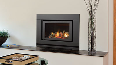 No more drafty fireplaces! Save money by turning down your furnace and zone heating with a Regency gas inbuilt.