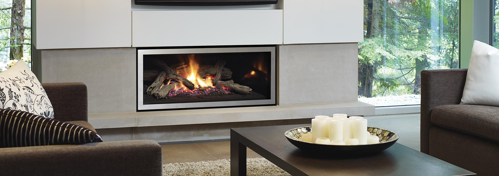 Modern Gas Fireplace Simple And Decorative Modern Gas