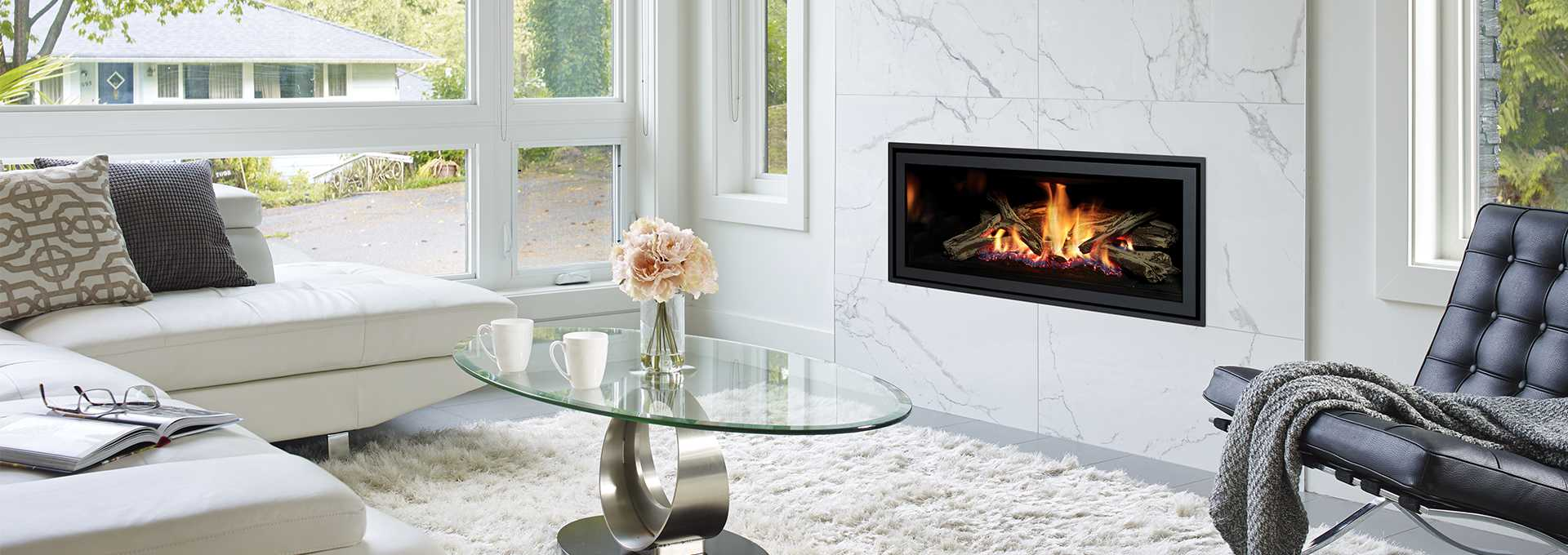 Contemporary Gas Fireplace Greenfire Gf950l Regency Fireplace
