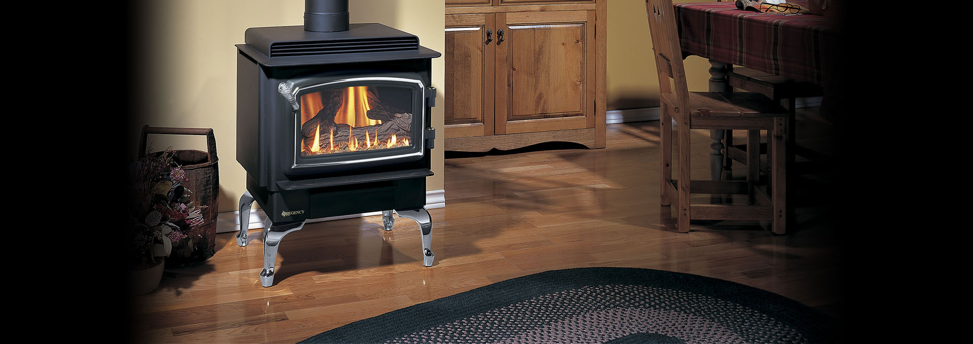 Traditional Gas Freestanding F33 Regency Fireplace Products