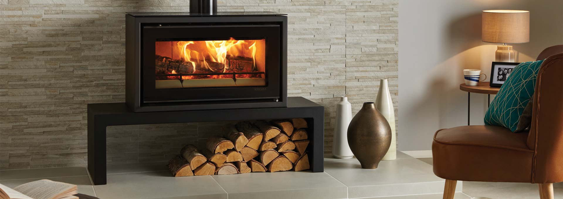 Modern Wood Freestanding Stovax Studio Stv1f Regency Fireplace Products