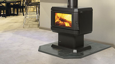 Albany wood freestanding fire
