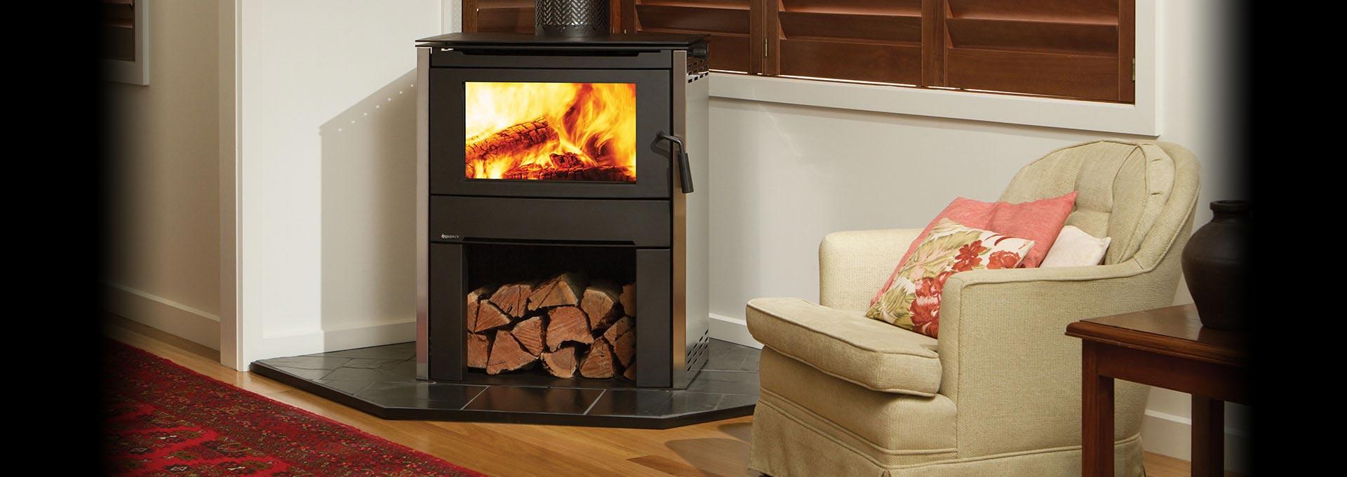 Modern Wood Freestanding Alterra Regency Fireplace Products