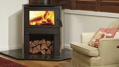 Alterra wood freestanding fire