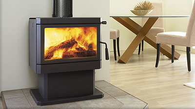 Cardinia wood freestanding fire