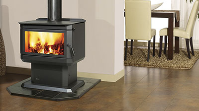 Gosford wood freestanding fire