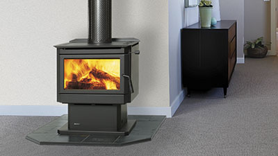 Renmark wood freestanding fire