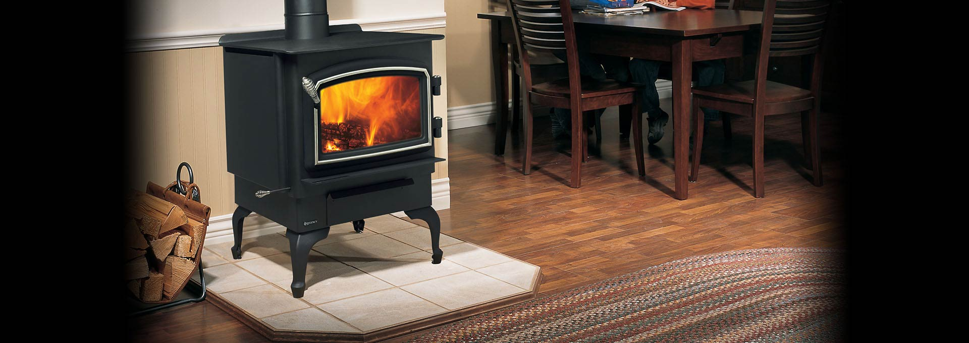 Classic Wood Freestanding Vancouver Regency Fireplace Products